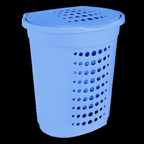 Корзина для белья 60 л голубая Алеана (122053)