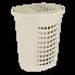 Корзина для белья 60 л кремовая Алеана (122053)