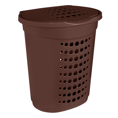 Корзина для белья 60 л коричневая Алеана (122053)