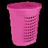 Корзина для белья 60 л розовая Алеана (122053)