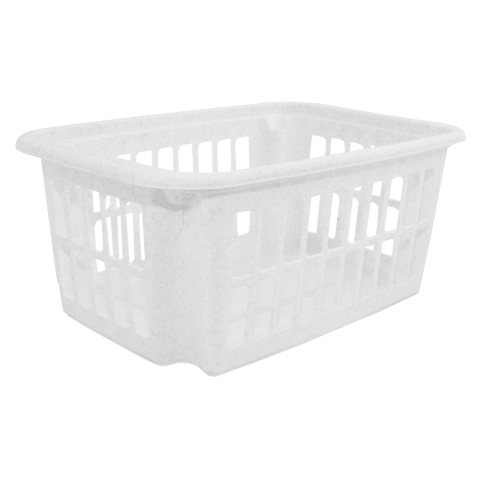 Корзина для переноски белья 18 л мрамор Алеана (122059)