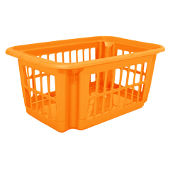 Корзина для переноски белья 4,5 л оранжевая Алеана (122057)