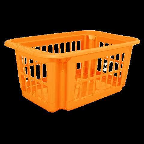 Корзина для переноски белья 30 л оранжевая Алеана (122076)