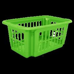 Корзина для переноски белья 4,5 л зелёная Алеана (122057)