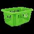 Корзина для переноски белья 10 л зелёная Алеана (122058)