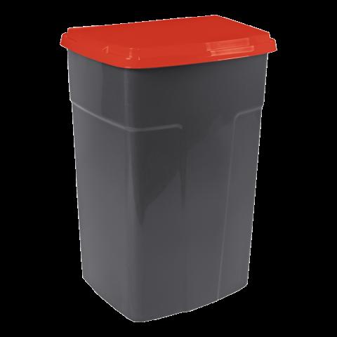 Бак мусорный 90 л чёрный-красный Алеана 122062