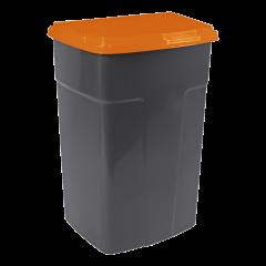 Бак мусорный 90 л чёрный-оранжевый Алеана 122062