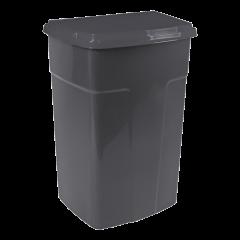 Бак мусорный 90 л чёрный-чёрный Алеана 122062
