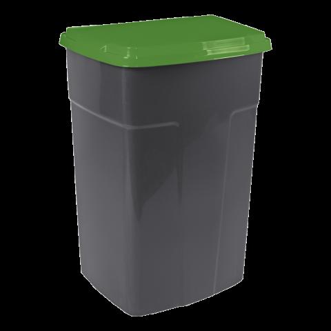 Бак мусорный 90 л чёрный-зелёный Алеана 122062