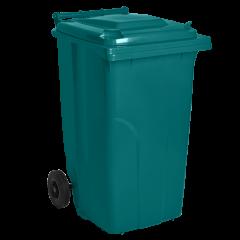 Бак для мусора на колёсах 120 л бирюзовый Алеана (122064)