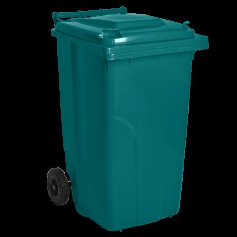 Бак для мусора на колёсах 240 л бирюзовый Алеана 122068