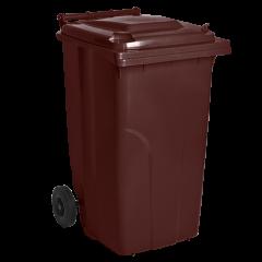 Бак для мусора на колёсах 120 л коричневый Алеана (122064)