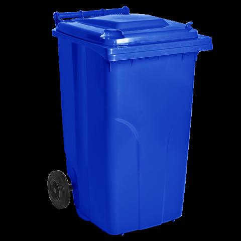 Бак для мусора на колёсах 240 л синий Алеана 122068