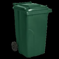 Бак для мусора на колёсах 120 л зеленый Алеана (122064)