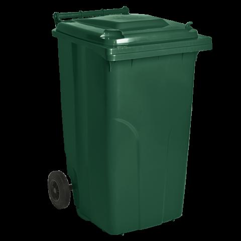 Бак для мусора на колёсах 240 л зелёный Алеана 122068