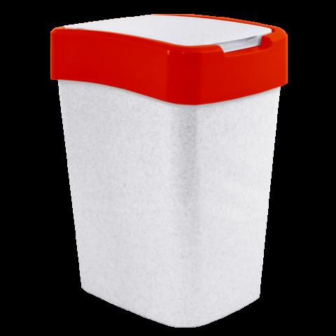 Ведро для мусора Евро 10 л мрамор-красный Алеана 122066
