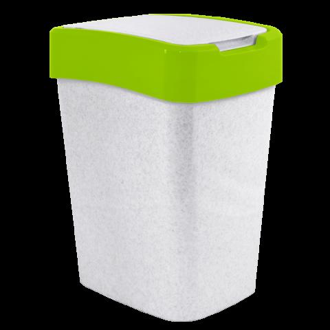 Ведро для мусора Евро 10 л мрамор-салатовый Алеана 122066