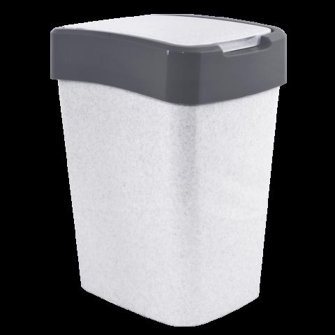 Ведро для мусора Евро 10 л мрамор-серый Алеана 122066