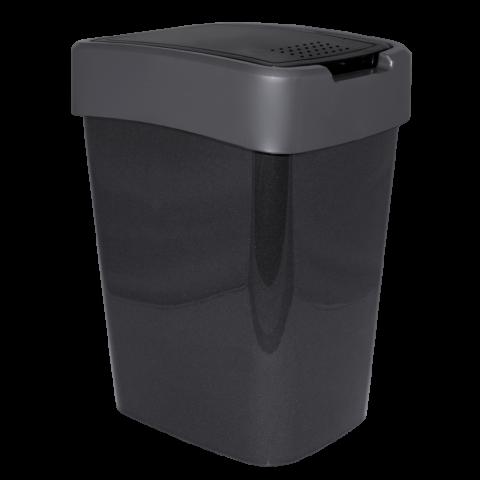 Ведро для мусора Евро 18 л чёрный-серый Алеана 122067