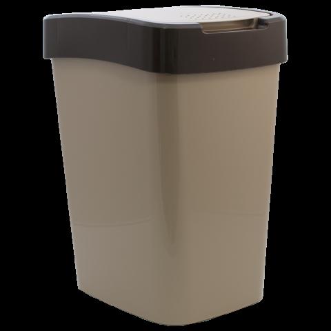 Ведро для мусора Евро 25 л бежевый-чёрный Алеана 123067