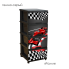 Комод с рисунком Ралли 46,5х39,5х95,5 тёмно-серый Алеана 123093