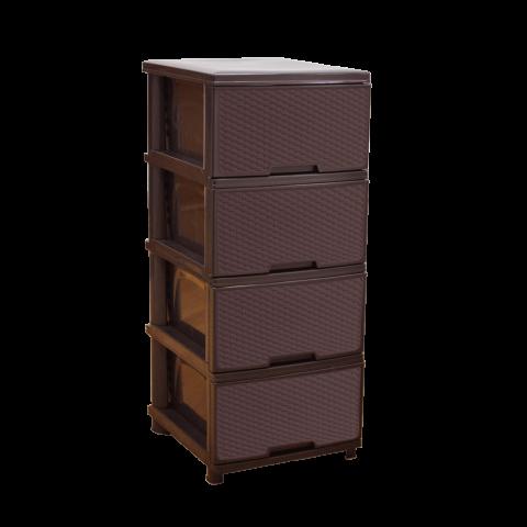 Комод Ротанг 46,5х39,5х95,5 коричневый Алеана 123094