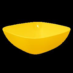 Тарелка глубокая 0,5 л 15х15х5,5 см жёлтая матовая Алеана