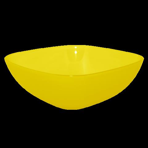 Тарелка глубокая 0,5 л 15х15х5,5 см жёлтая прозрачная Алеана