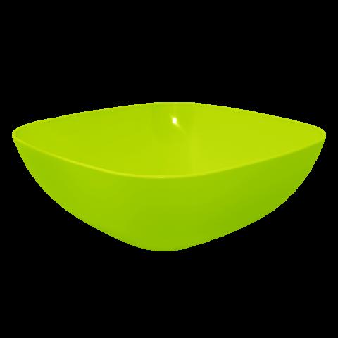 Тарелка глубокая 0,5 л 15х15х5,5 см салатовая Алеана