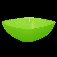 Тарелка глубокая 0,5 л 15х15х5,5 см зелёная Алеана