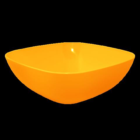Тарелка глубокая 0,5 л 15х15х5,5 см оранжевая Алеана