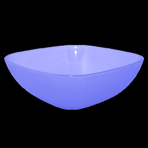 Тарелка глубокая 0,5 л 15х15х5,5 см голубая Алеана