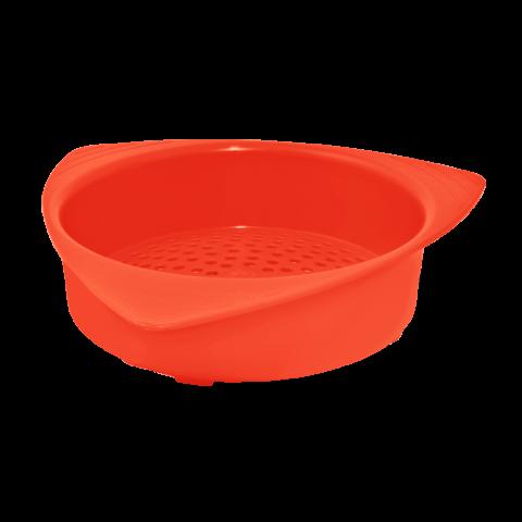 Сетка сливная для банки 14х13,5х3,5 см красная Алеана 167003