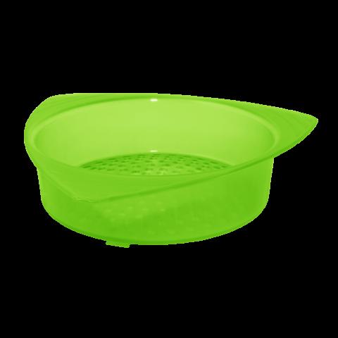 Сетка сливная для банки 14х13,5х3,5 см салатовая Алеана 167003