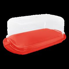 Масленка 17,1х9х6,6 см красная Алеана 167009