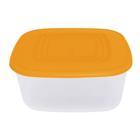 Контейнер для пищевых продуктов 1,88 л квадратный оранжевая крышка Алеана 167014