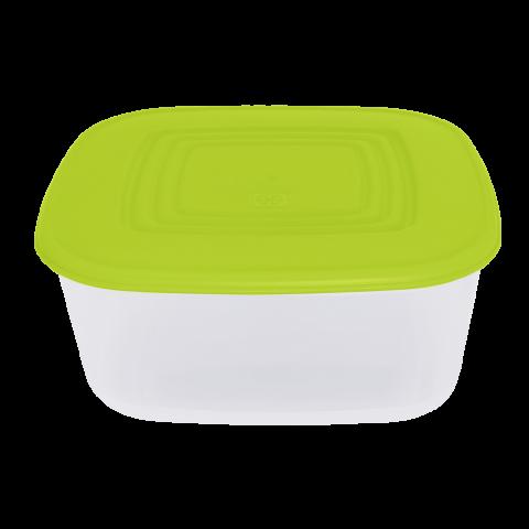 Контейнер для пищевых продуктов 1,88 л квадратный салатовая крышка Алеана 167014