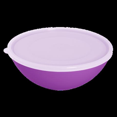 Миска с крышкой 2 л фиолетовая Алеана 167017