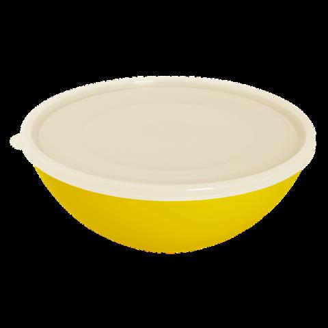 Миска с крышкой 0,8 л жёлтая Алеана 167016