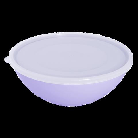 Миска с крышкой 0,8 л сиреневая Алеана 167016