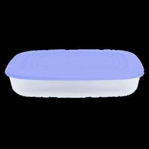 Контейнер для пищевых продуктов 0,95 л прямоугольный синяя крышка Алеана 167023