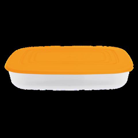 Контейнер для пищевых продуктов 2,5 л прямоугольный оранжевая крышка Алеана 167025