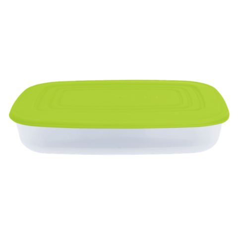 Контейнер для пищевых продуктов 1,5 л прямоугольный салатовая крышка Алеана 167024
