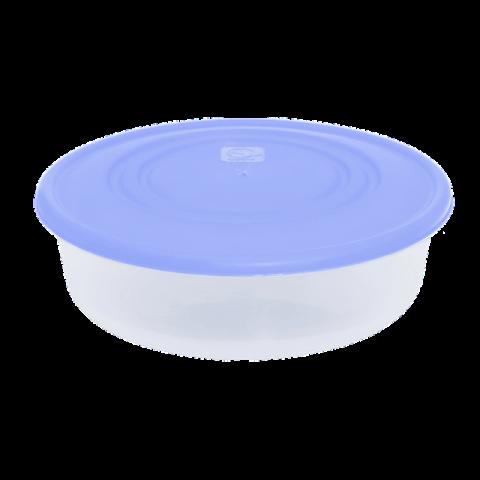 Контейнер для пищевых продуктов 0,55 л круглый синяя крышка Алеана 167033