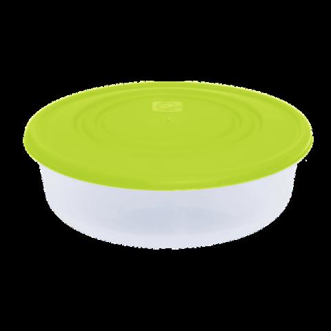 Контейнер для пищевых продуктов 0,55 л круглый салатовая крышка Алеана 167033
