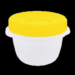 Набор контейнеров Омега 285 мл 3 шт. для пищевых продуктов жёлтая крышка Алеана 167037