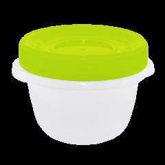 Набор контейнеров Омега 285 мл 3 шт. для пищевых продуктов салатовая крышка Алеана 167037