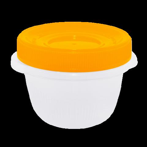 Набор контейнеров Омега 285 мл 3 шт. для пищевых продуктов оранжевая крышка Алеана 167037