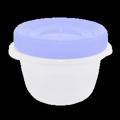 Набор контейнеров Омега 285 мл 3 шт. для пищевых продуктов голубая крышка Алеана 167037