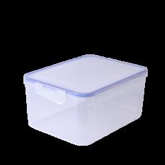 Набор контейнеров для пищевых продуктов 0,65+1,5+2,5 л прямоугольный с зажимом Алеана 167046